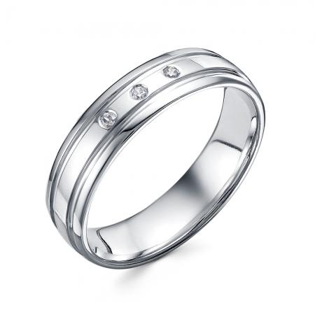 Серебряные обручальные кольца (Родий)