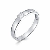 Серебряное кольцо с фианитом 130002