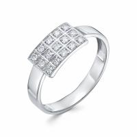 Серебряное кольцо с фианитом 130004