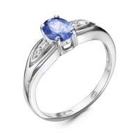 Серебряное кольцо с фианитом 130005