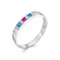 Серебряное кольцо с фианитом 130006