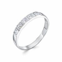 Серебряное кольцо с фианитом 130008