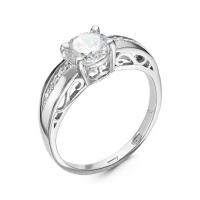 Серебряное кольцо с фианитом 130009