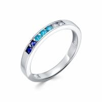 Серебряное кольцо с фианитом 130010