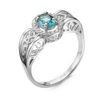 Серебряное кольцо с фианитом 130013