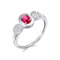 Серебряное кольцо с фианитом 130015