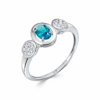 Серебряное кольцо с фианитом 130016