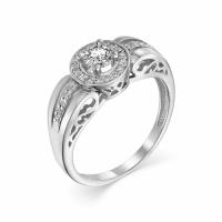 Серебряное кольцо с фианитом 130018