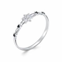 Серебряное кольцо с фианитом 130021