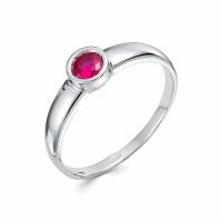 Серебряное кольцо с фианитом 130024