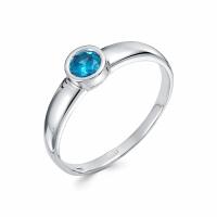 Серебряное кольцо с фианитом 130025