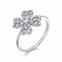 Серебряное кольцо с фианитом 130026