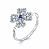 Серебряное кольцо с фианитом 130027