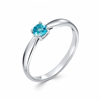 Серебряное кольцо с фианитом 130034