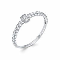 Серебряное кольцо с фианитом 130035