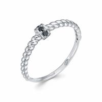 Серебряное кольцо с фианитом 130036