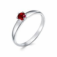 Серебряное кольцо с фианитом 130037