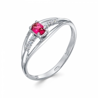 Серебряное кольцо с фианитом 130038