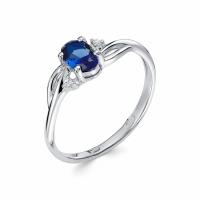Серебряное кольцо с фианитом 130039