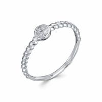 Серебряное кольцо с фианитом 130040