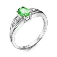 Серебряное кольцо с фианитом 130108