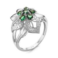 Серебряное кольцо с фианитом 130109
