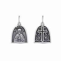 Иконка из серебра Святитель архиепископ Николай Чудотворец 330031