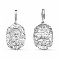 Иконка из серебра Божьей Матери, Владимирская 330065